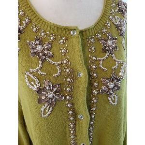 J. JILL Delight In The Details Beaded Cardigan XL